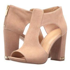 NWOB Michael Kors Sabrina open toe bootie heels